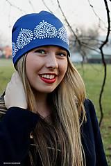 Čiapky - modrotlačová FOLK-LOVE čiapka - 7503181_