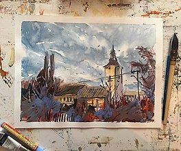 Obrazy - Detail kostola - 7501321_