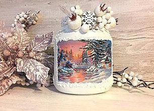 Svietidlá a sviečky - Svietnik / vázička Západ slnka - 7503537_