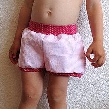 Detské oblečenie - Kraťasy-puntík, proužek, kostka - 7501285_