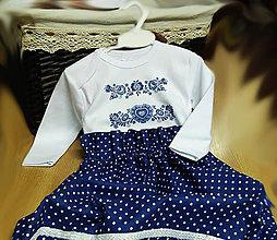 Detské oblečenie - Modrotlač - suknička - 7502456_