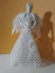 Socha - Biely anjelik - 7502042_