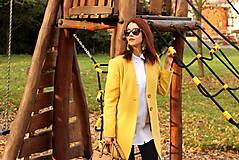 Kabáty - Vlnený kabát dlhý - žltý - 7504244_