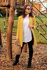 Kabáty - Vlnený kabát dlhý - žltý - 7504245_