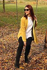 Kabáty - Vlnený kabát dlhý - žltý - 7504247_