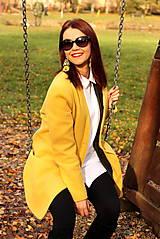 Kabáty - Vlnený kabát dlhý - žltý - 7504248_