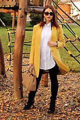 Kabáty - Vlnený kabát dlhý - žltý - 7504249_