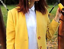 Kabáty - Vlnený kabát dlhý - žltý - 7504329_