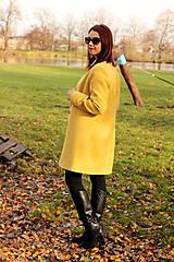 Kabáty - Vlnený kabát dlhý - žltý - 7504333_