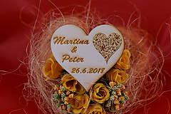 Drevená svadobná magnetka ako darček pre hosti 65