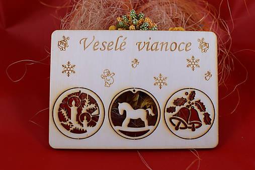 Drevený vianočný pozdrav 2