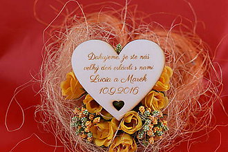 Darčeky pre svadobčanov - Drevená svadobná magnetka ako darček pre hosti 53 - 7502527_