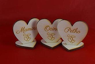 Papiernictvo - Drevená menovka pre svadobných hosti 1 - 7503042_