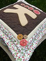 Úžitkový textil - Vankúš s písmenom...:) - 7505001_