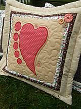 Úžitkový textil - Srdce k srdcu No.3 - 7505024_