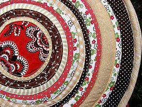 Úžitkový textil - Podsedáky - kruhové. - 7504832_