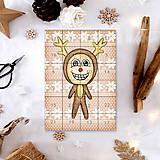 Dekorácie - Adventný kalendár vločky (sobík) - 7503666_