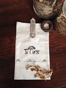 Úžitkový textil - vrecúško na HUBY - 7507684_
