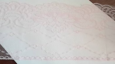 Galantéria - čipka ružová - 13,5 cm široká, 1,66 m dlžka - 7506081_