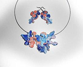Sady šperkov - atyp flowers náhrdelník a náušnice - 7509217_