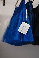Sukne - Modrá tylová spodnička - 7506237_