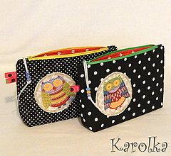 Taštičky - Kozmetická taštička - Sovička - 7505501_