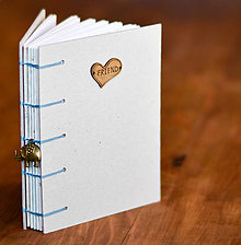 Papiernictvo - Ručne sitý zápisník - Vintage friend  - 7507833_