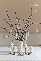 Drobnosti - Vianočné dekorácie stromčeky - 7505545_