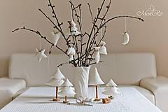 Drobnosti - Vianočné dekorácie stromčeky - 7505546_