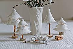 Drobnosti - Vianočné dekorácie stromčeky - 7505551_