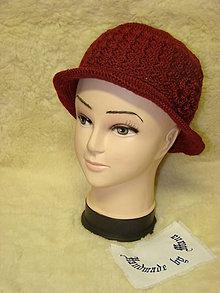 Čiapky - Háčkovaný klobúk - 7510258_