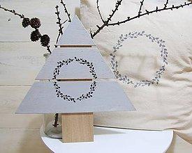 Dekorácie - Stromček šedý - 7510089_