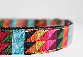 Pre zvieratká - Obojok Max - pestrofarebný s geometrickým vzorom - 7507955_