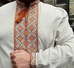 Oblečenie - Vyšívaná ľanová košeľa Janko - 7509056_