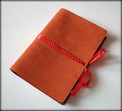 Papiernictvo - Kožený zápisník ,, Cinnamon  II\
