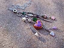 - pestrofarebný náhrdelník - retiazka z chir. ocele - 7506160_