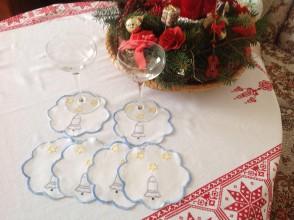 Úžitkový textil - Vianočné podložky pod poháre - 7507409_