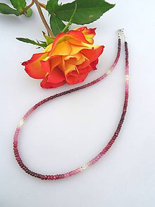Náhrdelníky - rubín náhrdelník - 7505792_