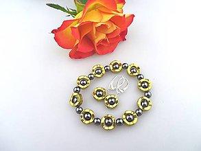 Sady šperkov - luxusná sada náramok a náušnice hematit - 7507796_