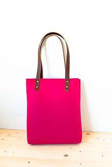 Kabelky - Urban... pink... Felt & Leather - 7508763_