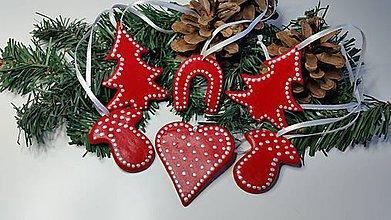 Dekorácie - Vianočné ozdoby sada 6 ks - 7507505_