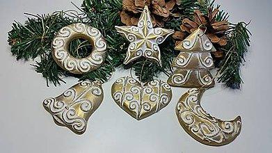 Dekorácie - Vianočné ozdoby sada 6 ks - 7508987_