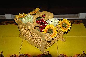 Dekorácie - Košík z dreva \