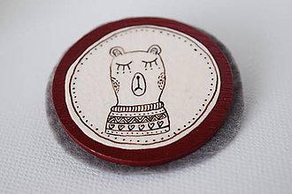 Odznaky/Brošne - Medveď Zoltán // brošňa - 7506661_