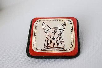Odznaky/Brošne - Líška Jozefína // brošňa - 7506668_