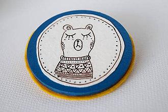 Odznaky/Brošne - Medveď Kamil // brošňa - 7506747_