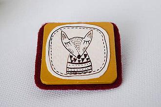 Odznaky/Brošne - Líška Cecília // brošňa - 7506769_