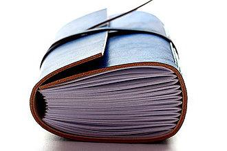 Papiernictvo - Zápisník z pravej kože MEKAM - 7509159_