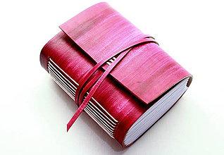 Papiernictvo - Zápisník z pravej kože PUELLA - 7510355_