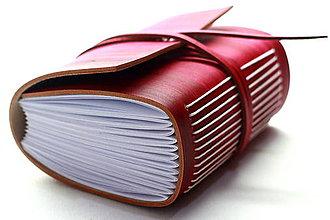 Papiernictvo - Zápisník z pravej kože PUELLA - 7510359_